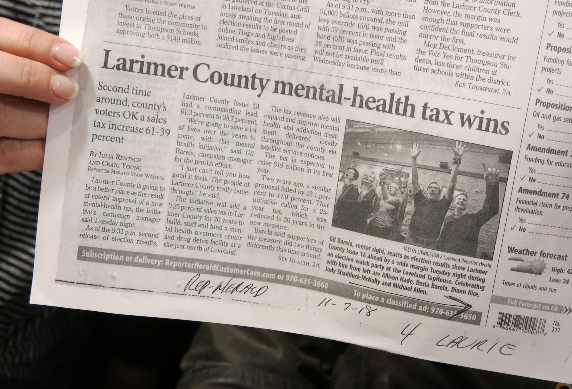 Photo: Mental Health Ballot Measures | Larimer County Newspaper