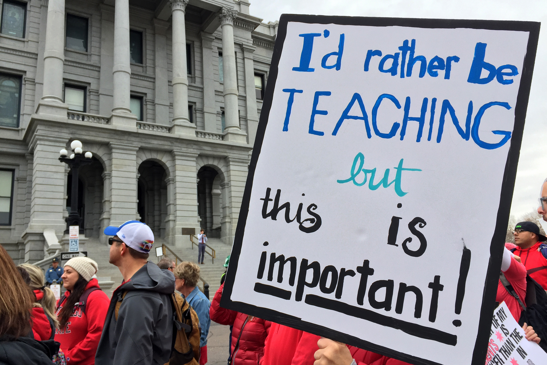 Photo: Teacher Walk Out Denver State Capitol April 26 MFP