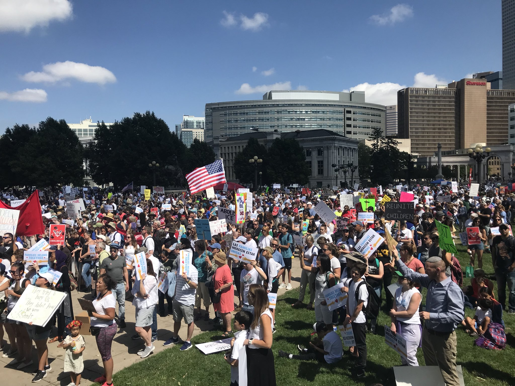 Photo: Denver immigration rally June 2018