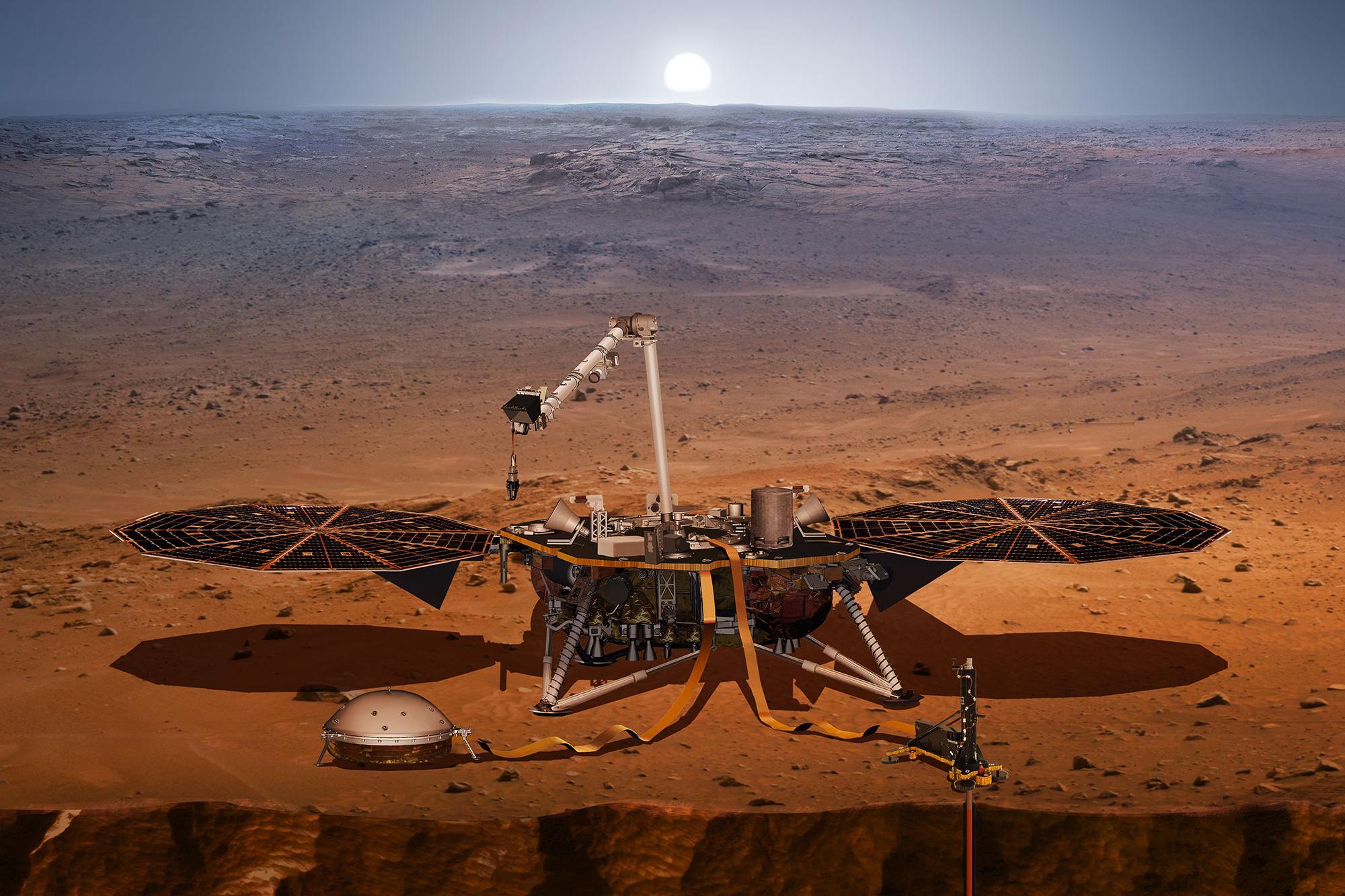 Photo: Illustration InSight Lander (NASA)