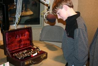 Photo: Ellington Jenkins and his clarinet Bringing music to life