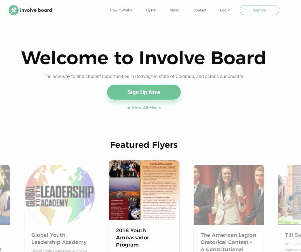Involve Board website screenshot