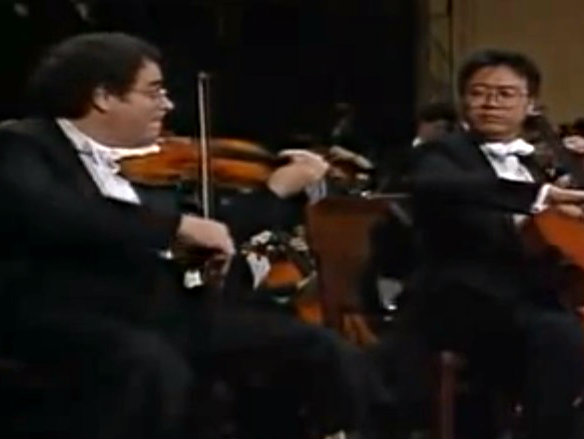 Photo: Itzhak Perlman and Yo-Yo Ma