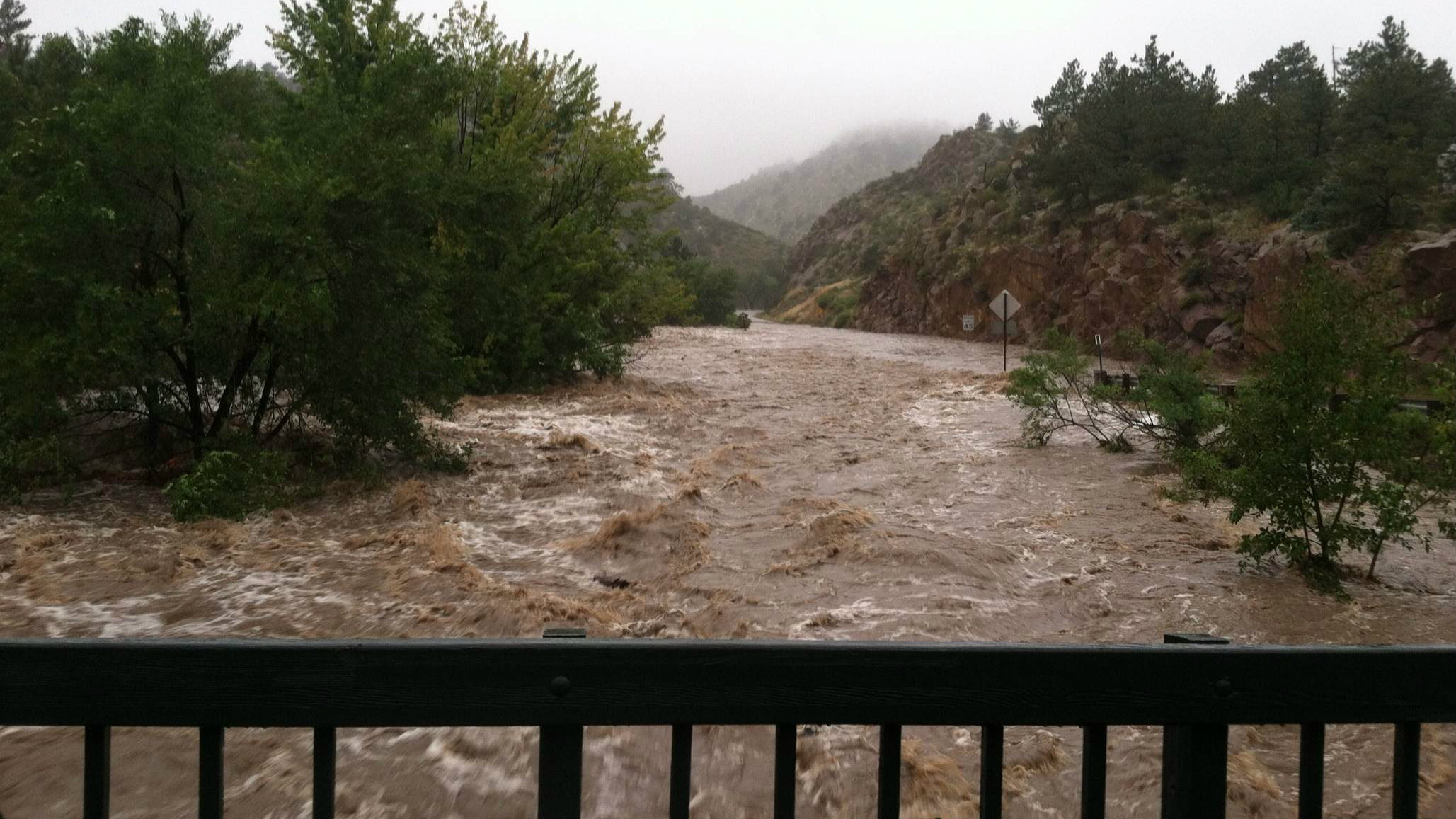 Photo: muddy water in Lyons flood