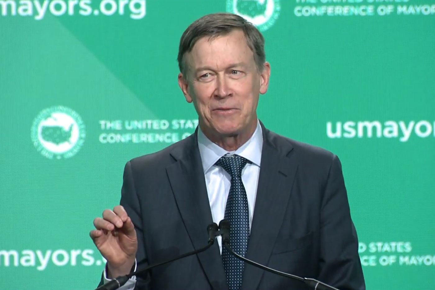 Photo: US COnf of Mayors 2019 | John Hickenlooper Speech - Courtesy/Screencap