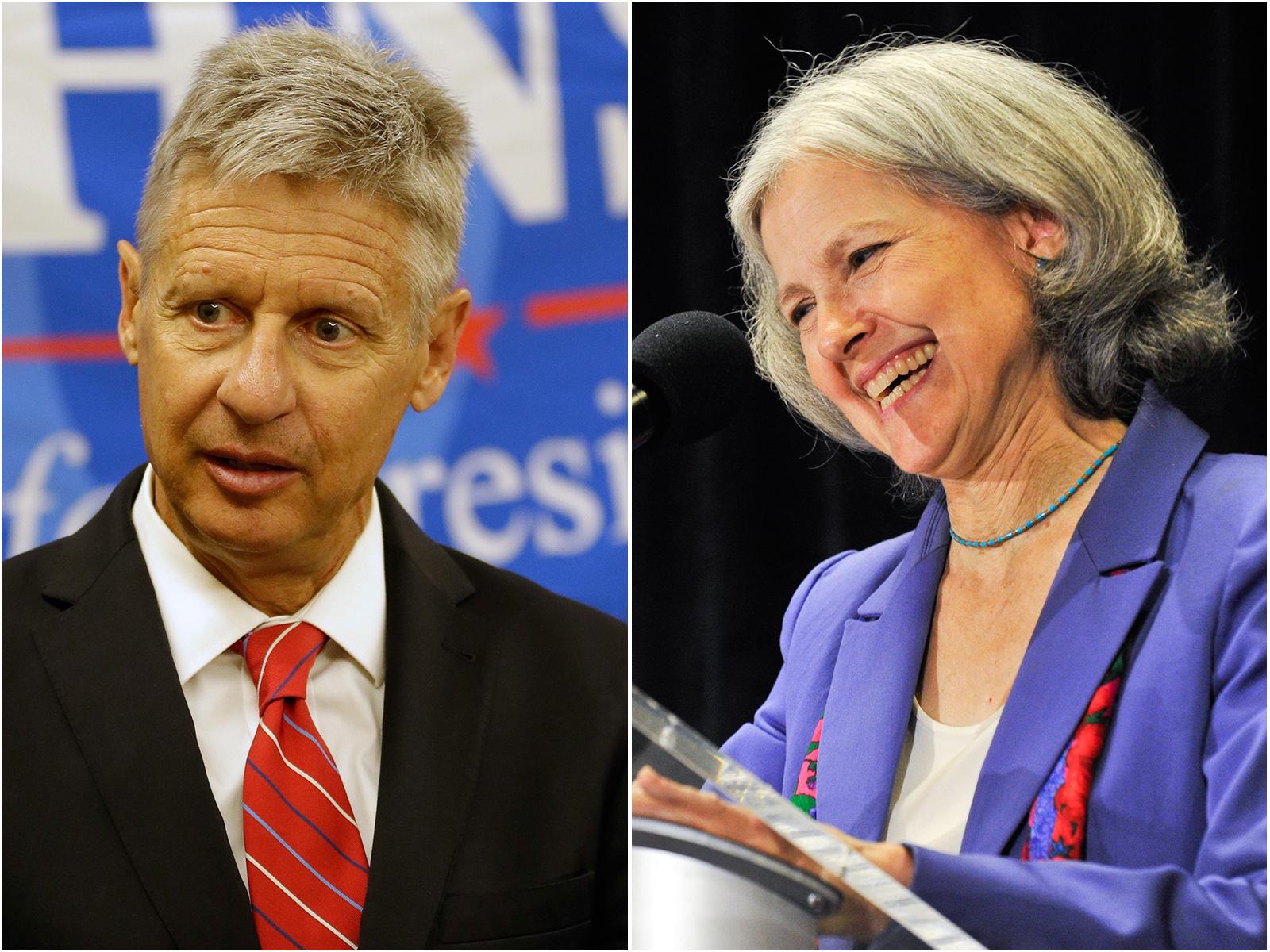 Photo: Gary Johnson, Jill Stein (AP Photos)