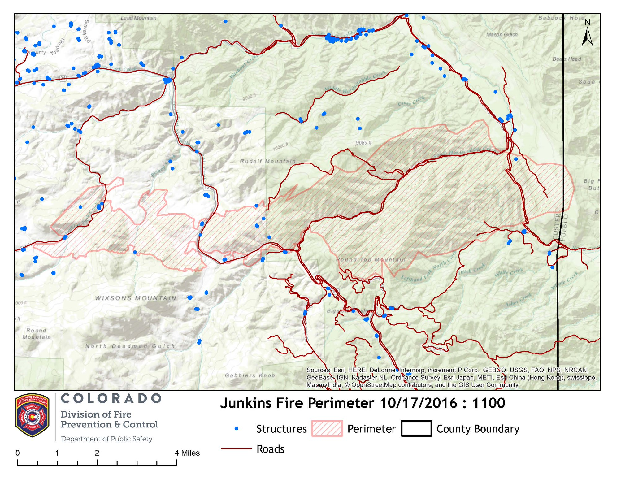 Photo: Map Of Junkins Fire, 11a Oct 17, Colo Div of Fire Prevention
