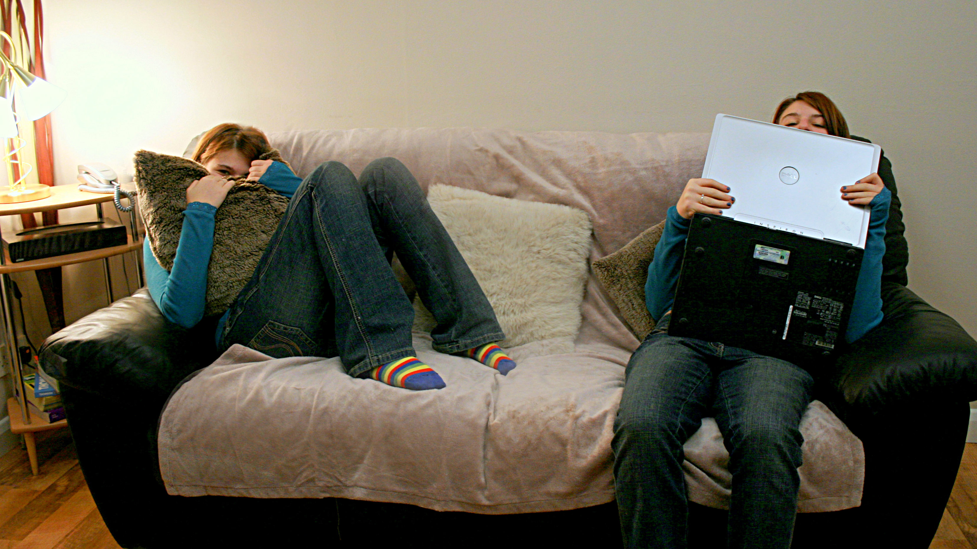 Photo: Teens on couch