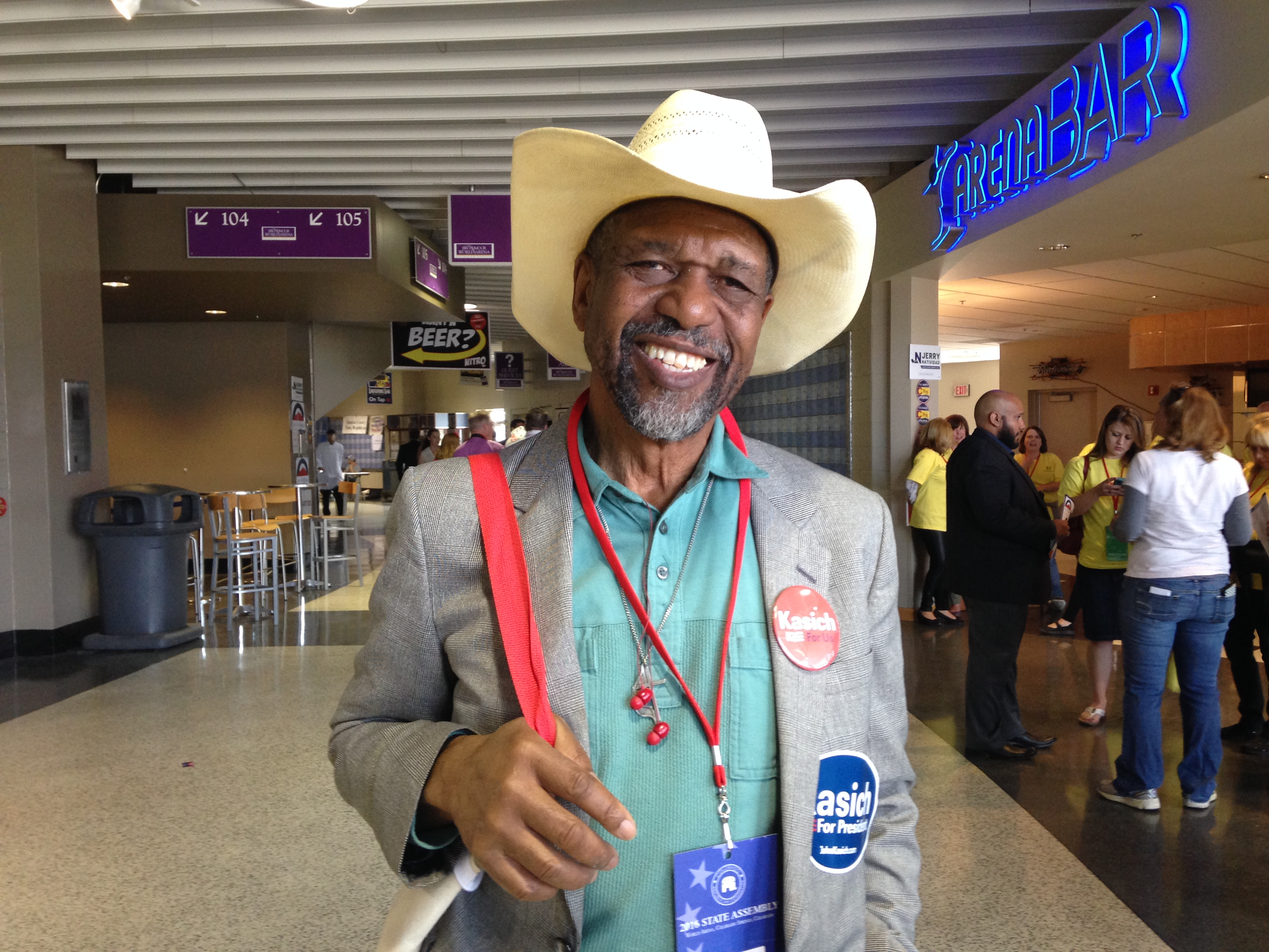 Photo: King Harris, GOP State Convention, 2016