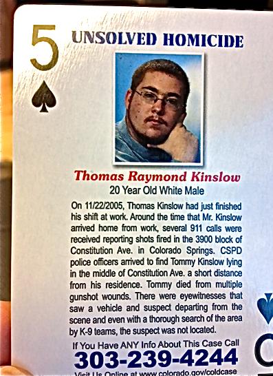 Photo: Tommy Kinslow CBI playing card