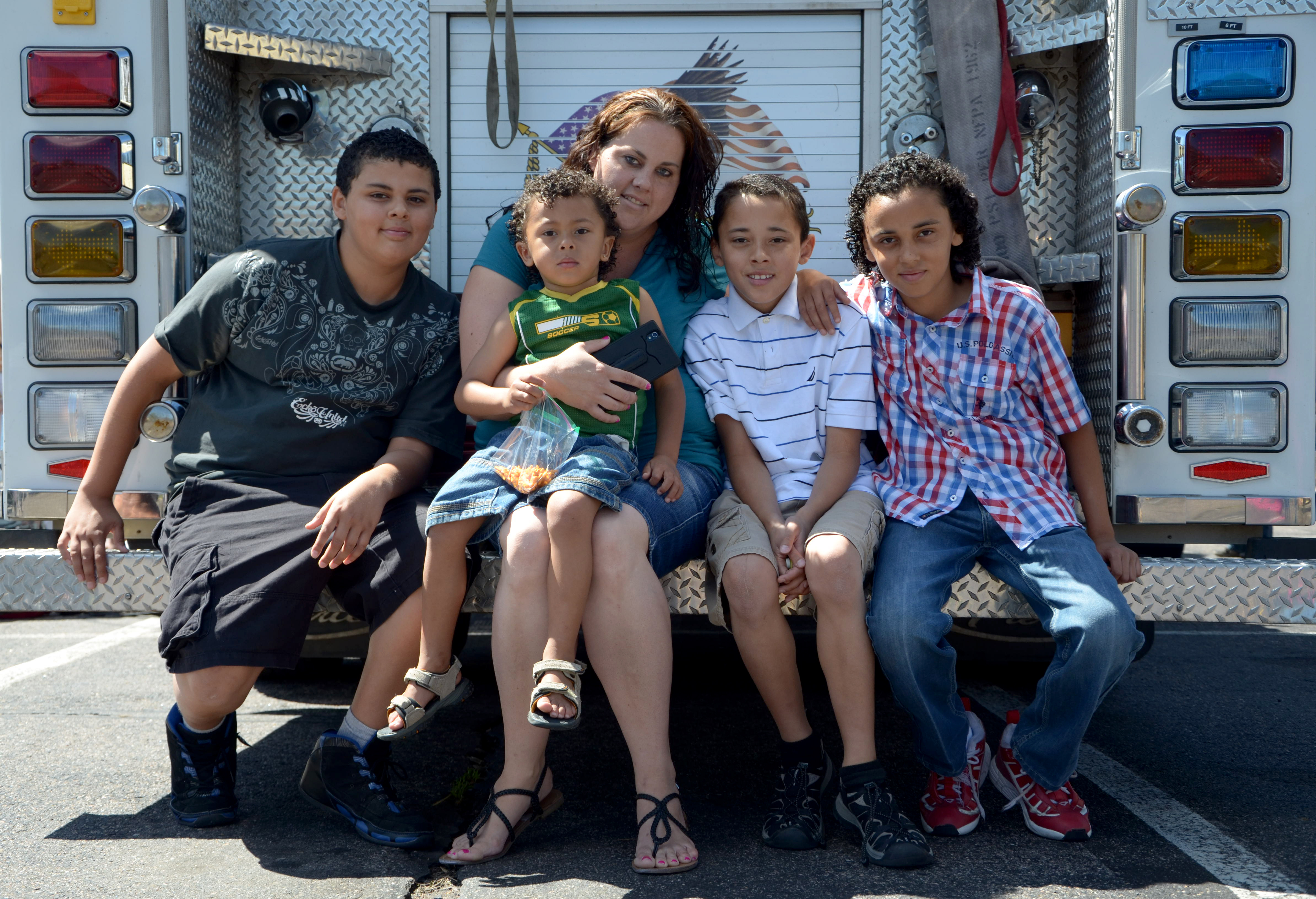 Photo: Katrina Haselgren and her family, kids in poverty, stress and the brain