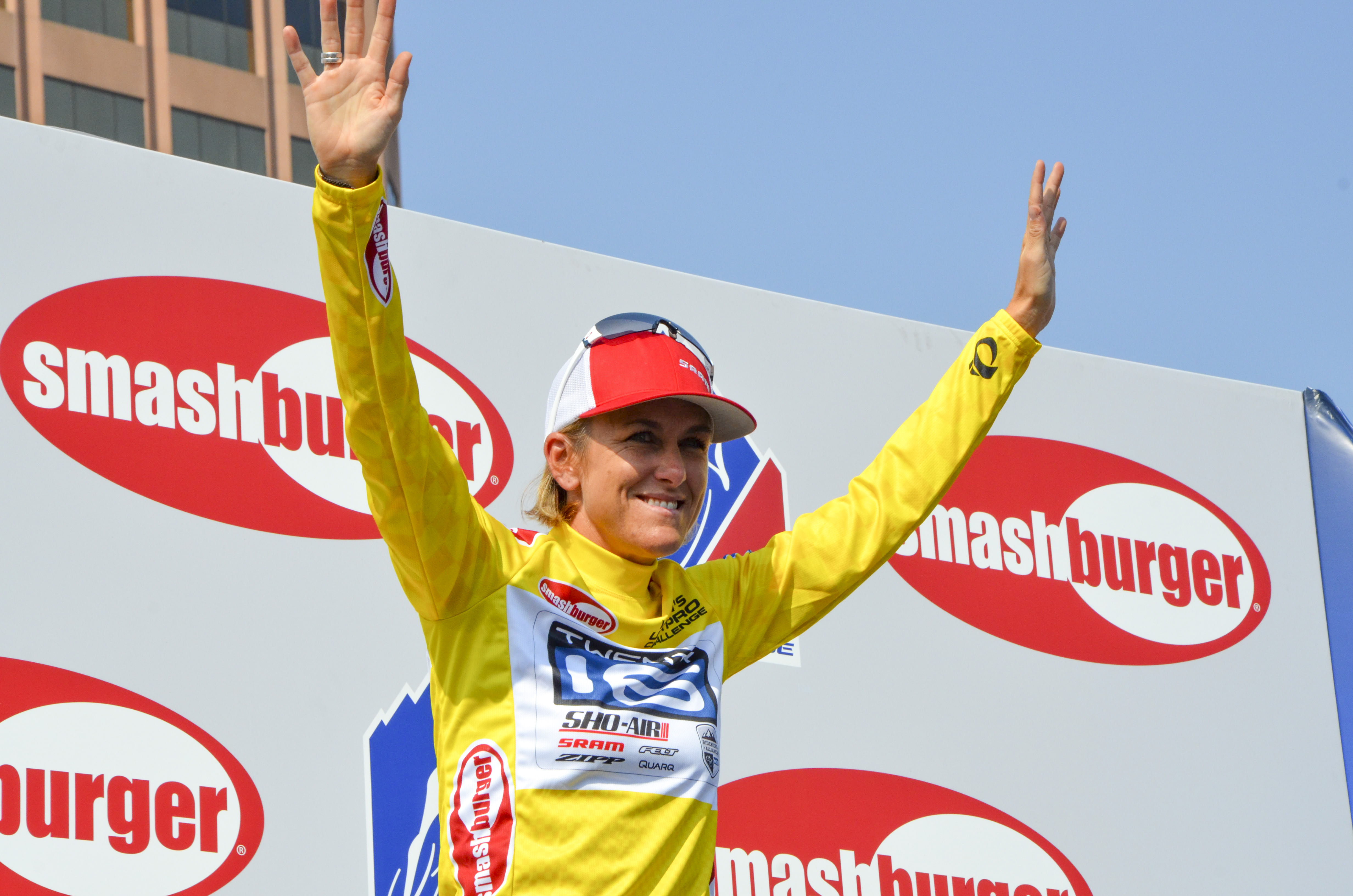 Kristin Armstrong wins the inaugural USA Pro Challenge women's race