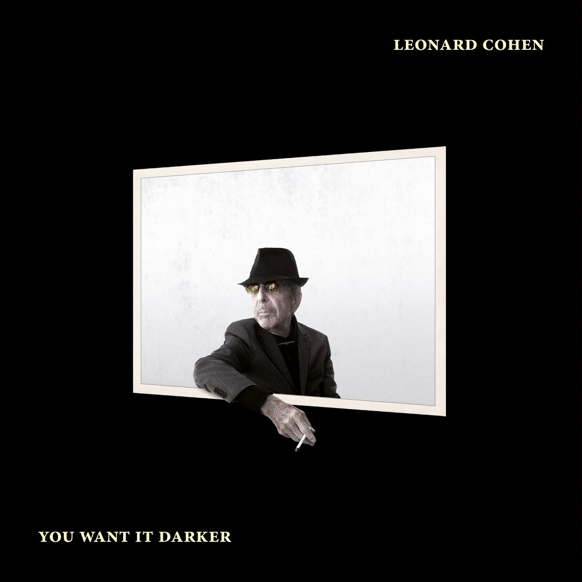 Photo: Leonard Cohen, 'You Want It Darker' cover