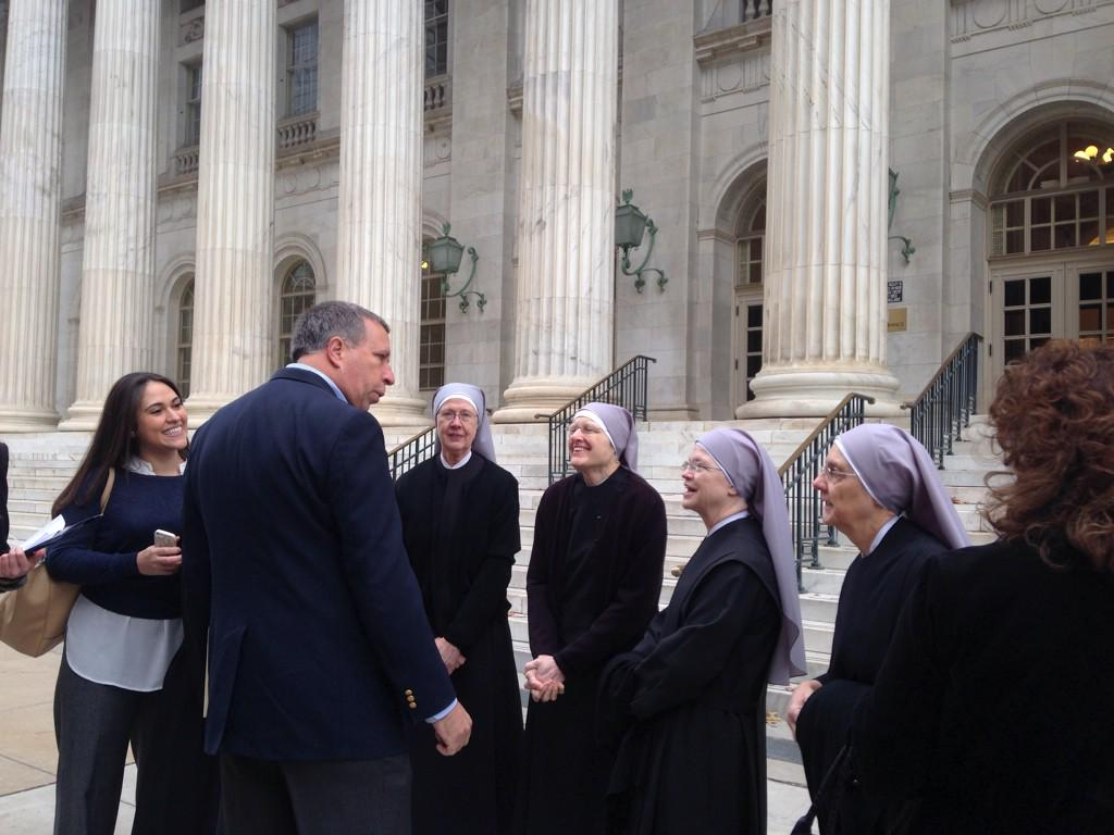 Photo: Little Sisters of the Poor at court