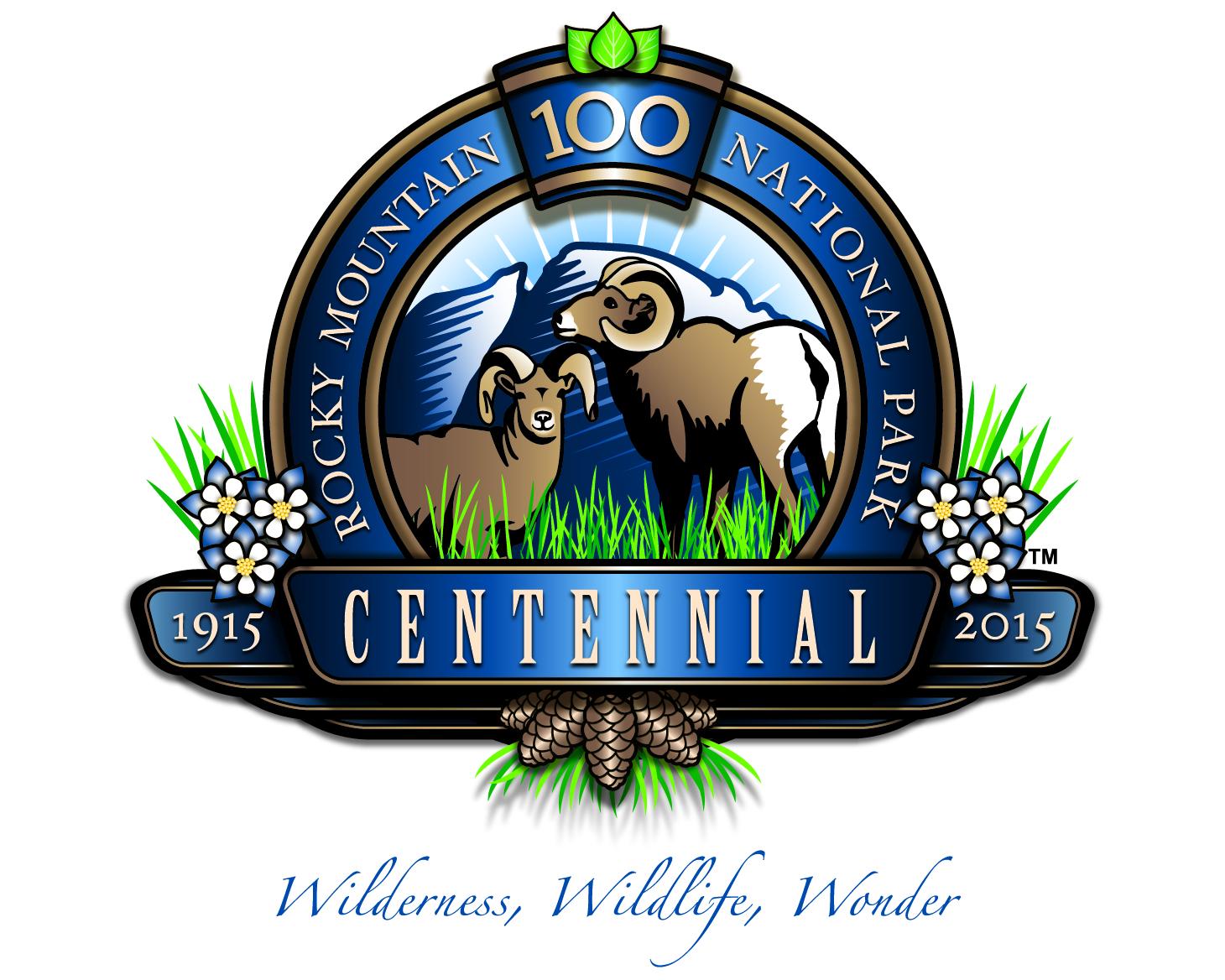 Photo: Rocky Mountain National Park centennial logo