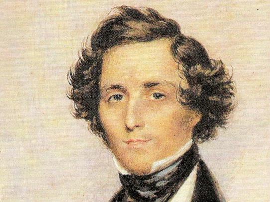 Photo: Composer Felix Mendelssohn, horizontal crop