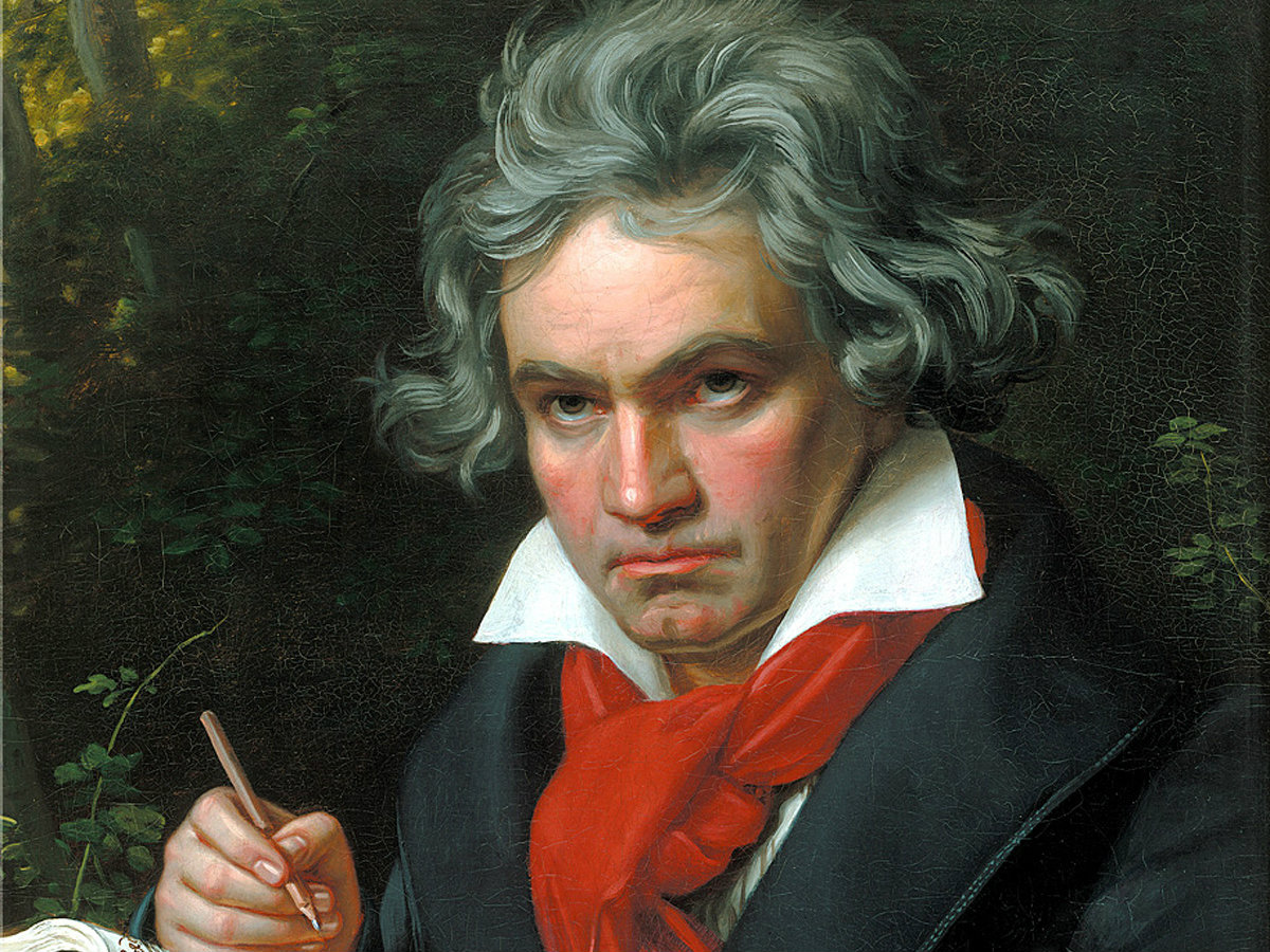 Photo: Ludwig van Beethoven painting