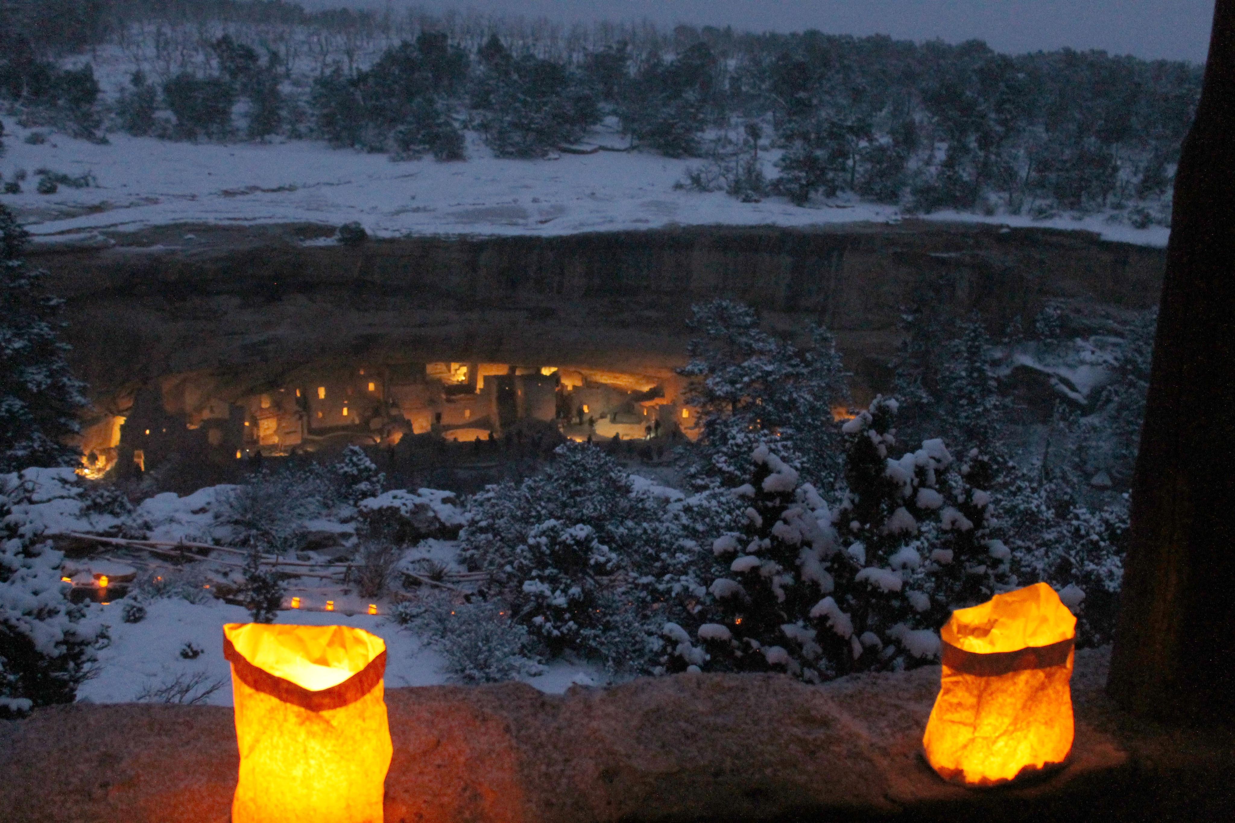 Photo: Spruce Tree House Mesa Verde Luminarias