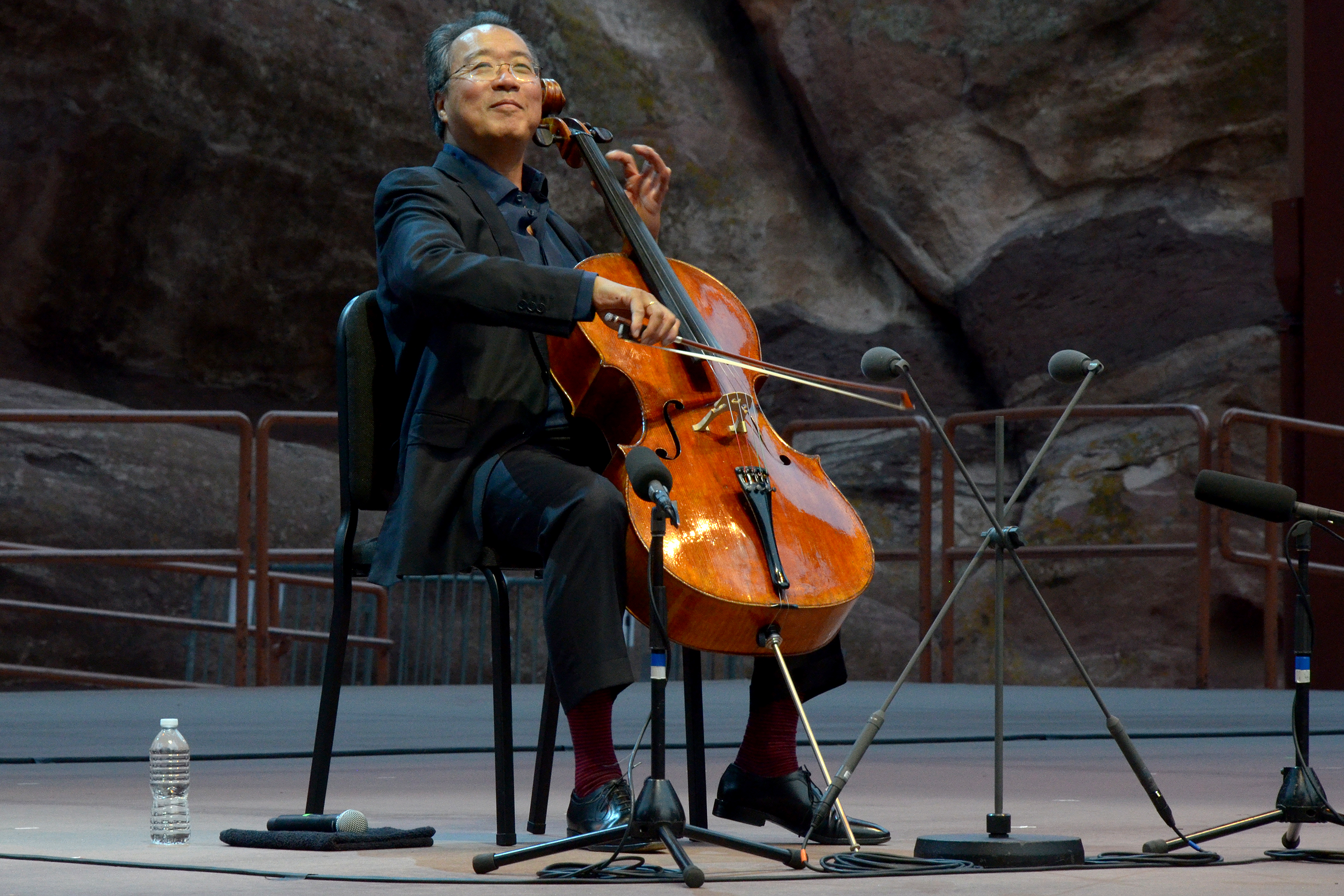 Photo: Yo-Yo Ma Performing At Red Rocks Closeup Shot Of Cellist Smiling