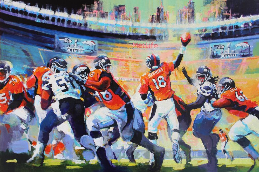 Photo: Malcolm Farley Super Bowl painting 2014