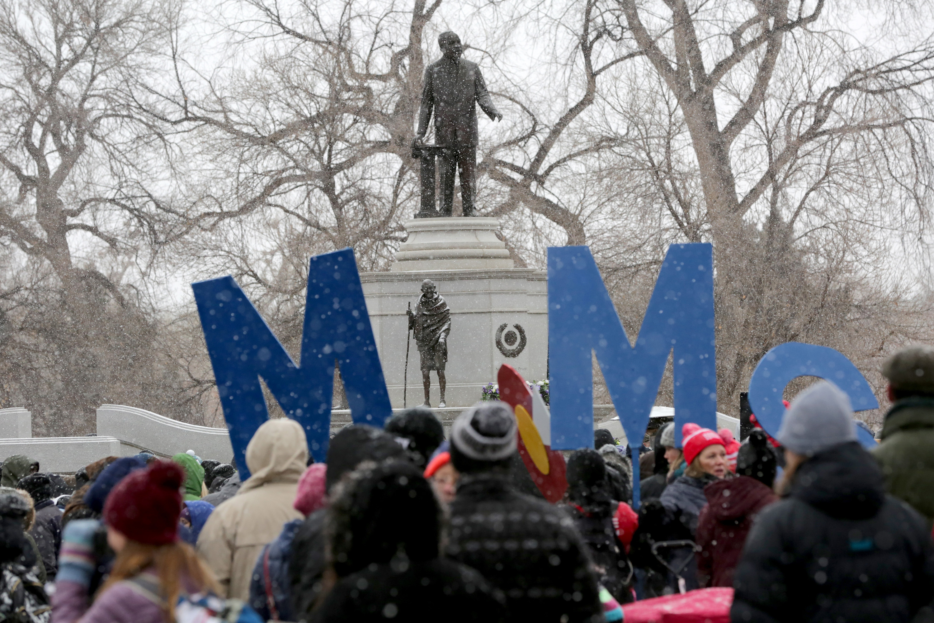 Photo: Marade 2018, Statue of Martin Luther King Jr. in Denver's City Park
