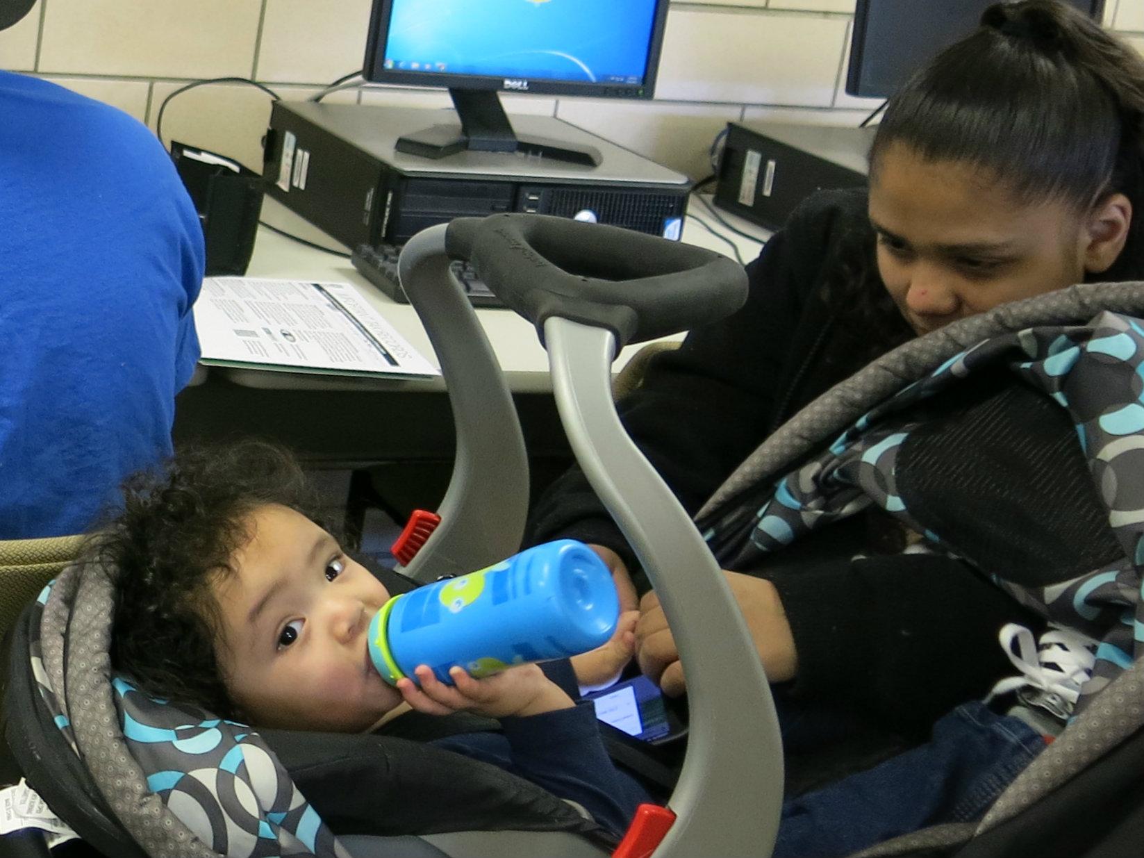 Mariah Herrera and son EITC
