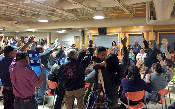Photo: Colorado Caucus, Adams City High School, Show of Hands (BM)