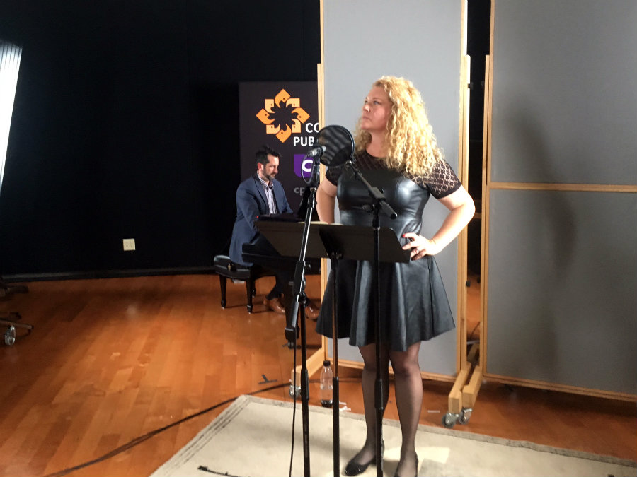 Photo: Michelle DeYoung in the CPR Performance Studio