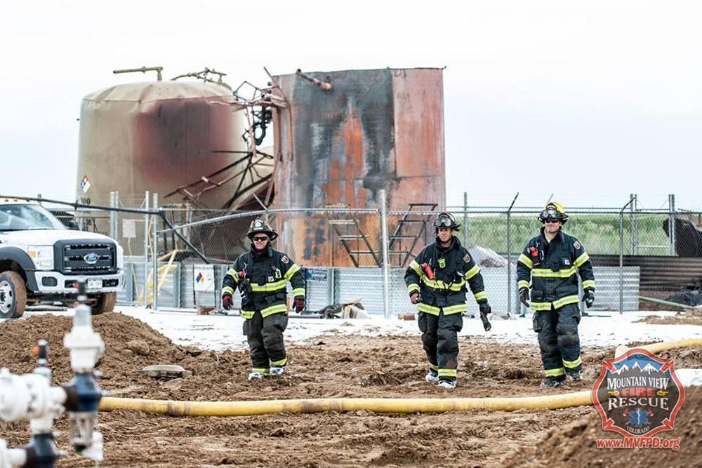 Photo: Mead Oil Tank Fire - MVFR