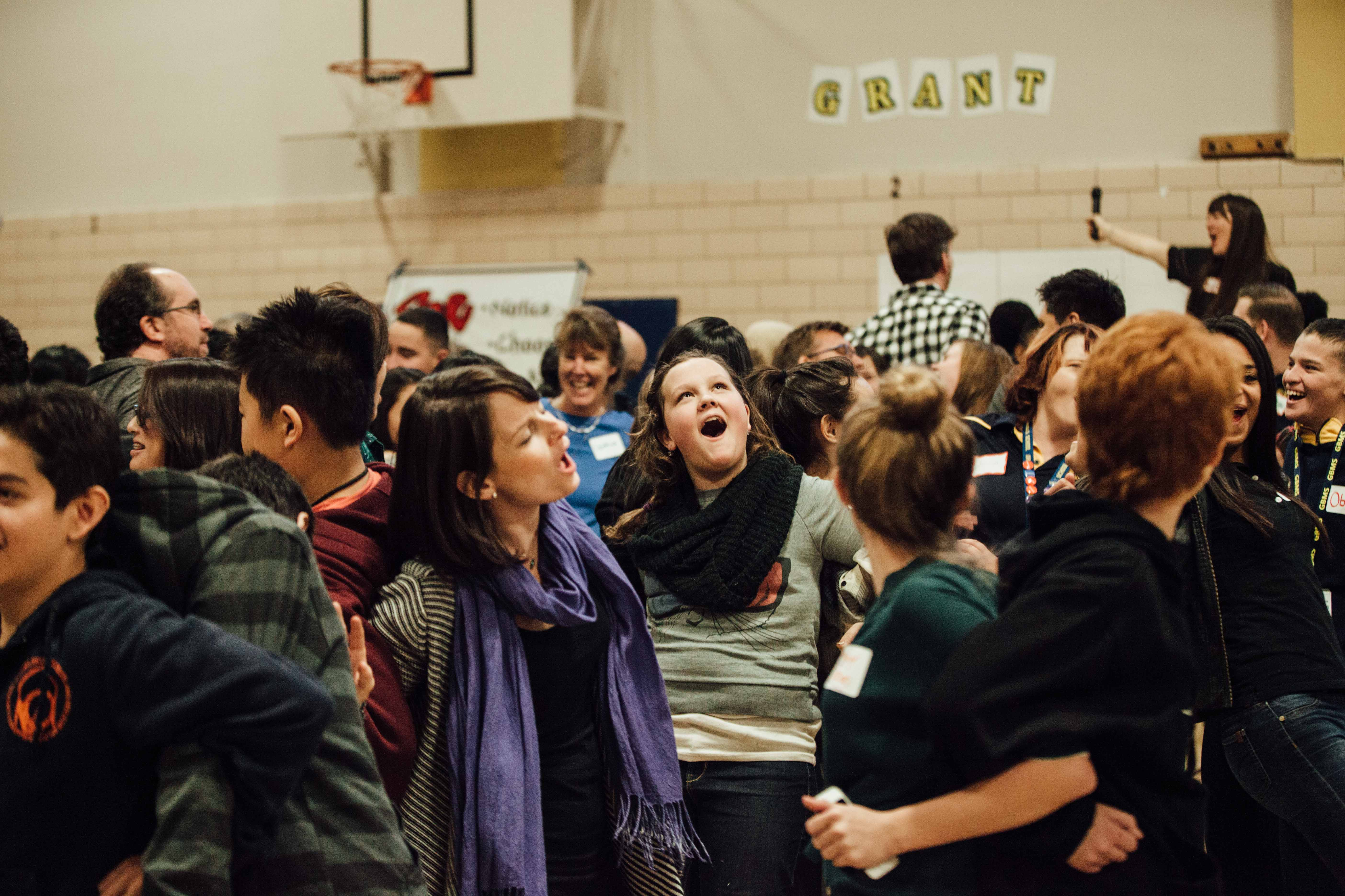 Photo: Bullying, Denver Challenge Day 7 Teens get to know one another