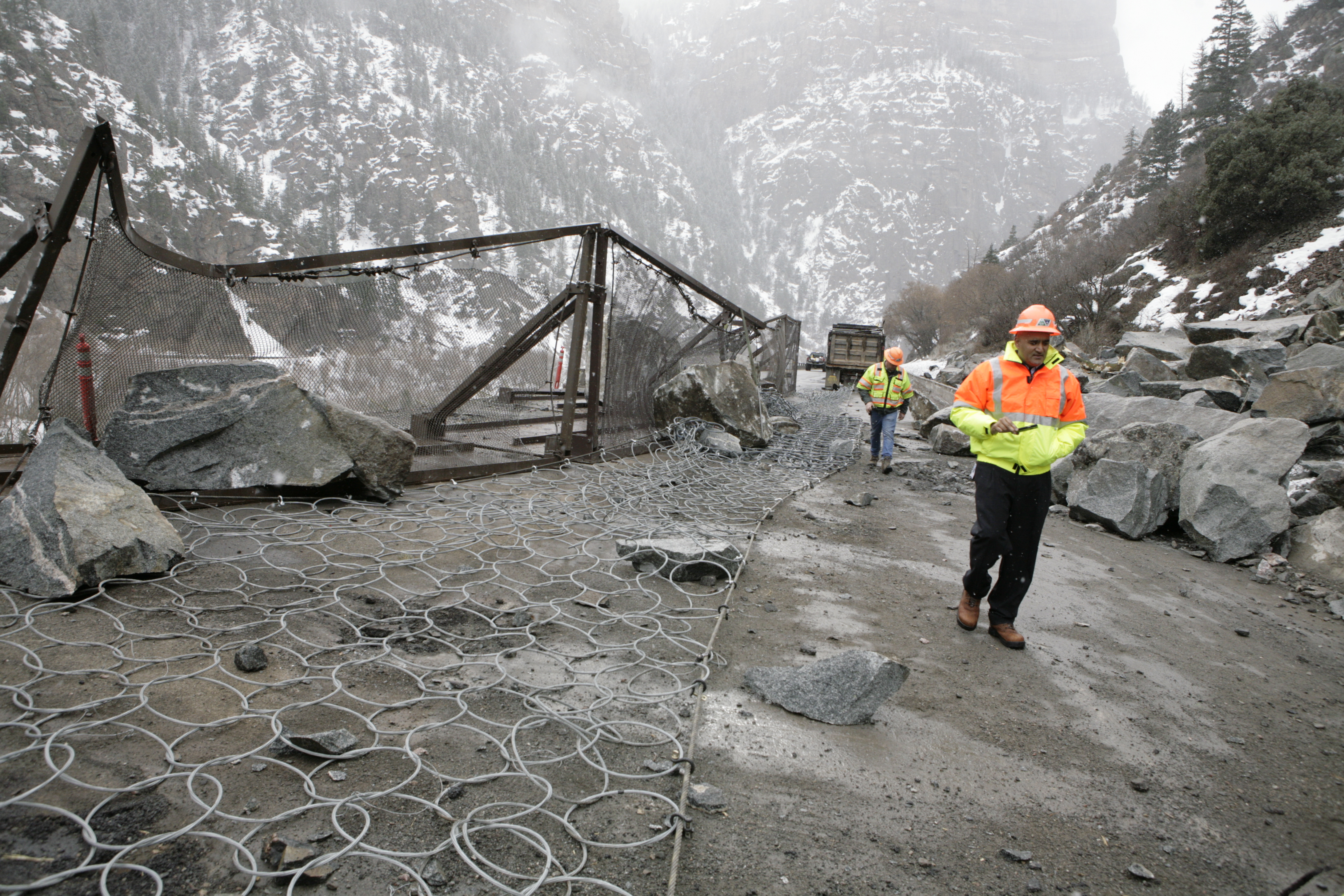 Photo: CDOT's Shailen Bhatt tours Glenwood Canyon