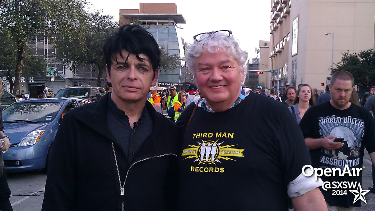 Mike with Gary Numan at SXSW