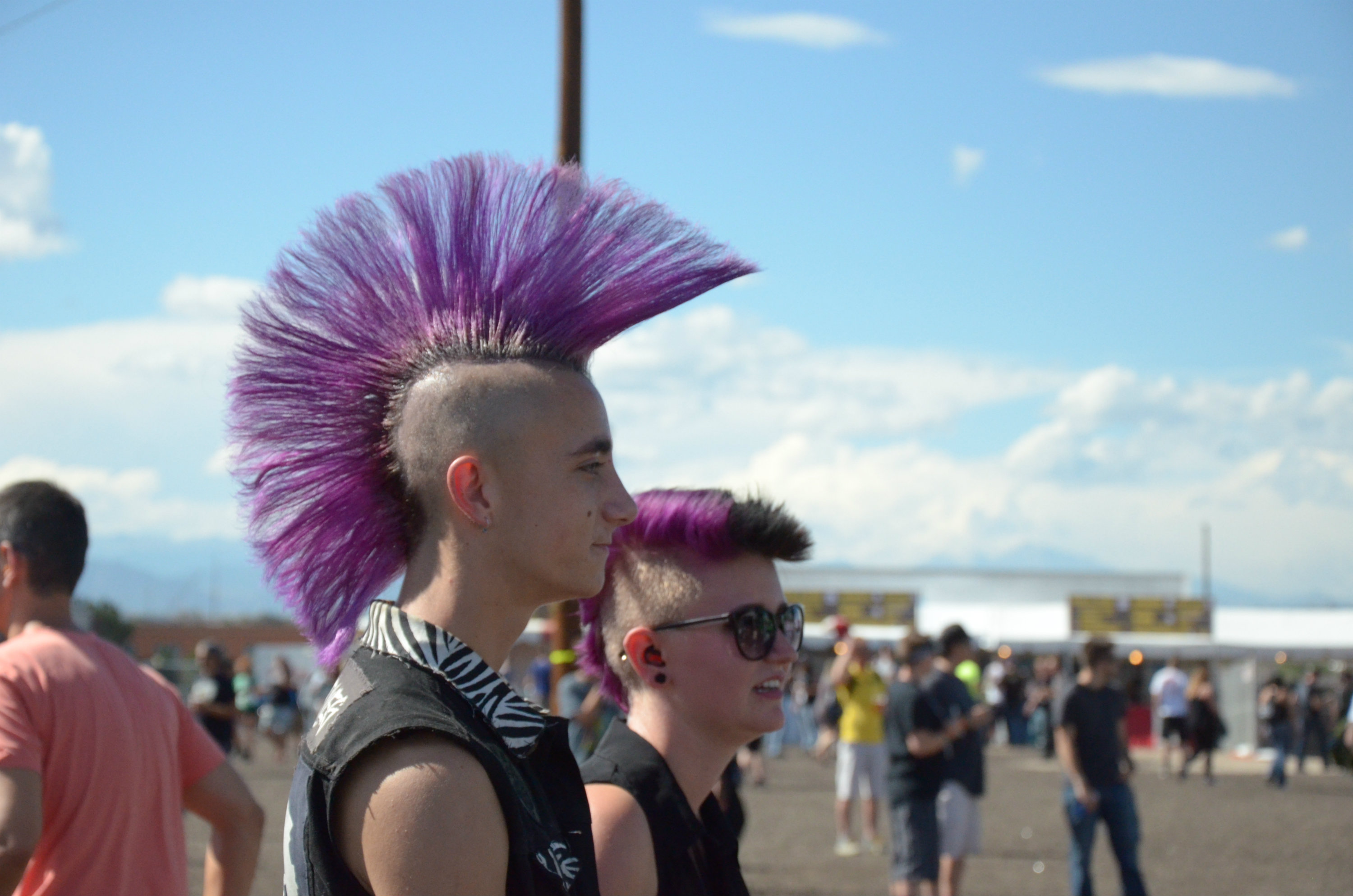 Photo: Crowd mohawks at Riot Fest 2016