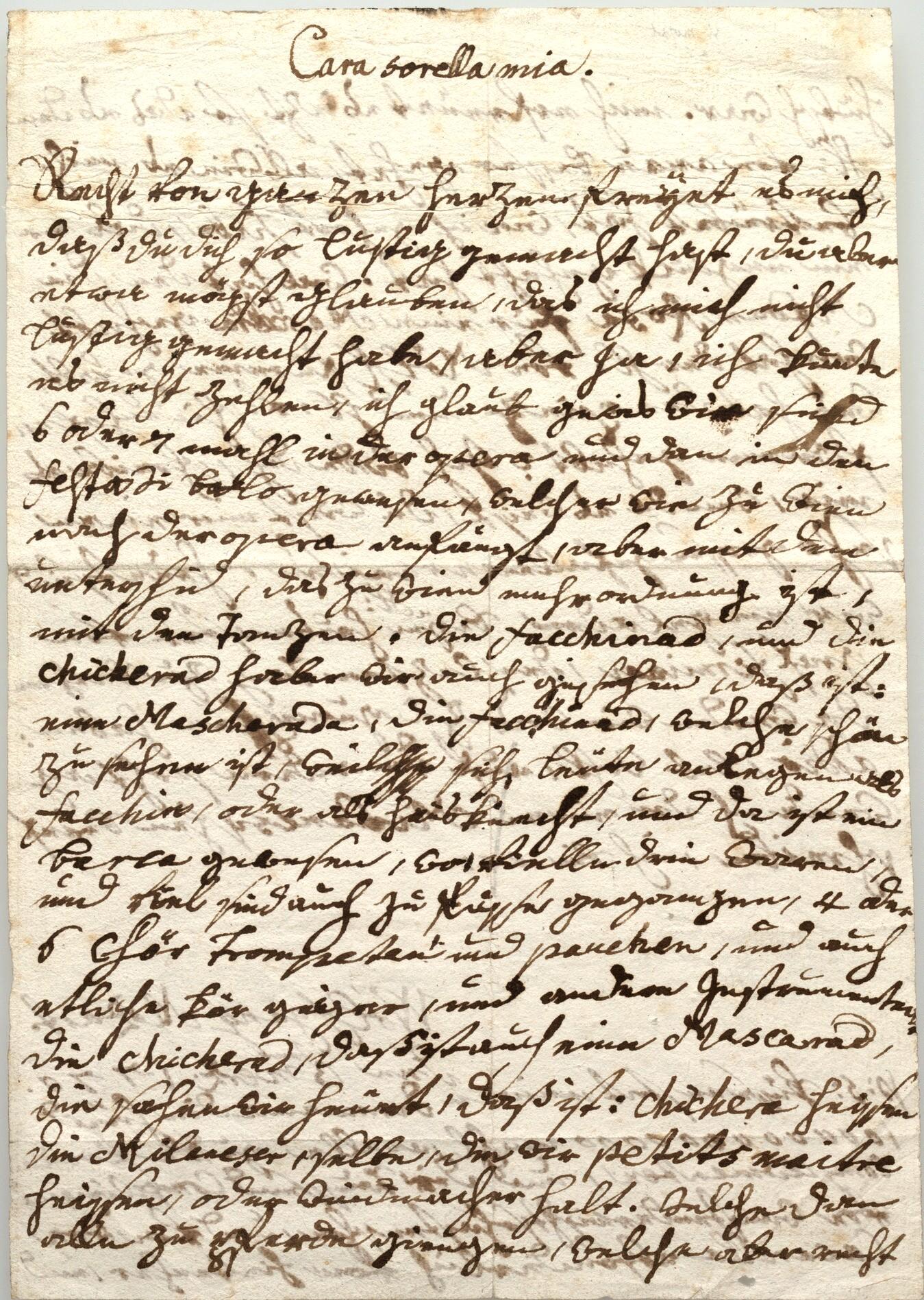 Photo: Mozart letter