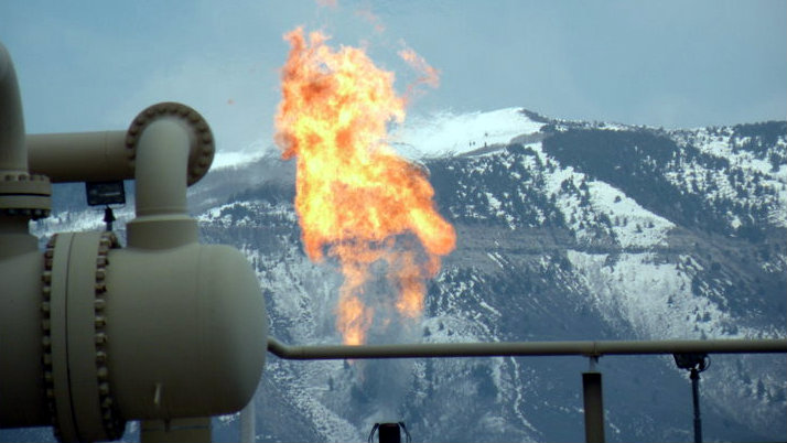 Photo: Natural gas flaring