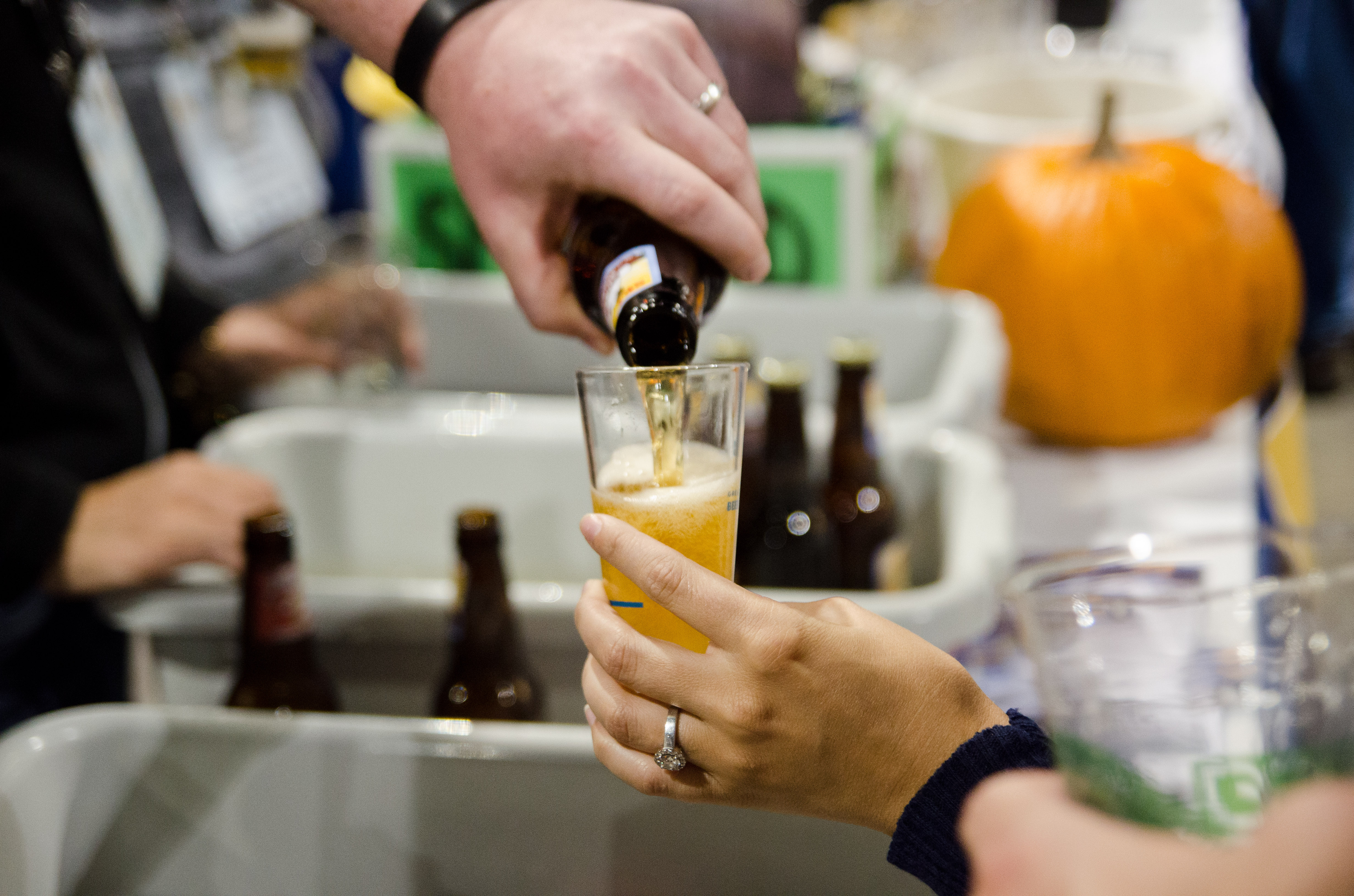 Photo: Pouring beer