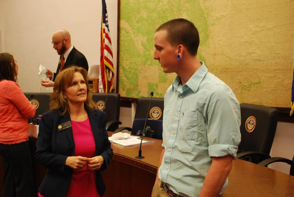Photo: Senator Linda Newell and Will Patton