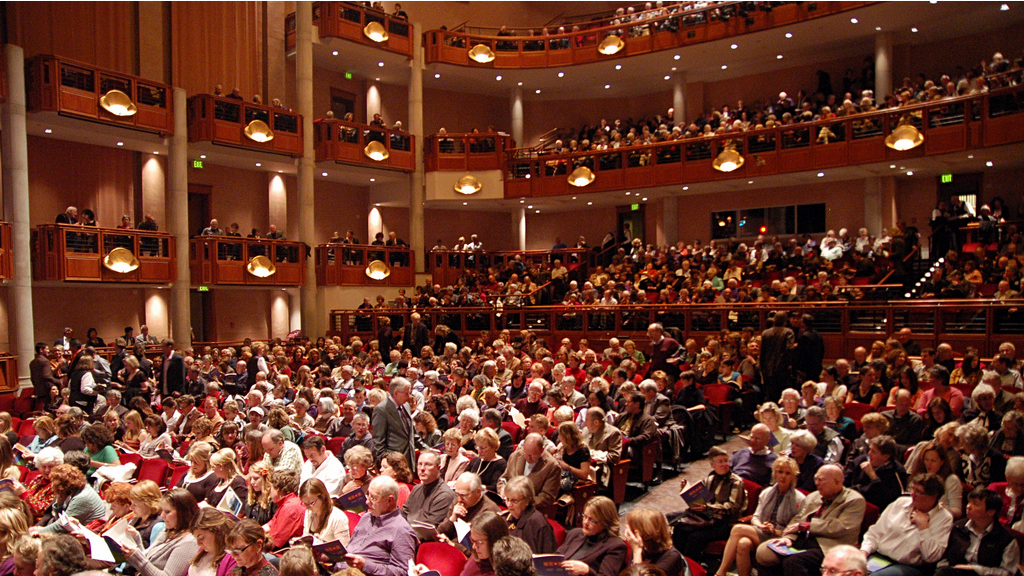 Photo: Newman Center audience