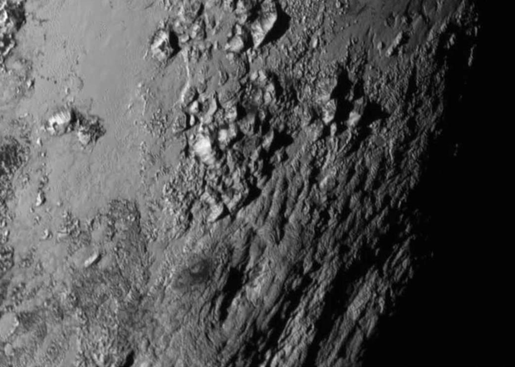 Photo:Icy Mountains of Pluto