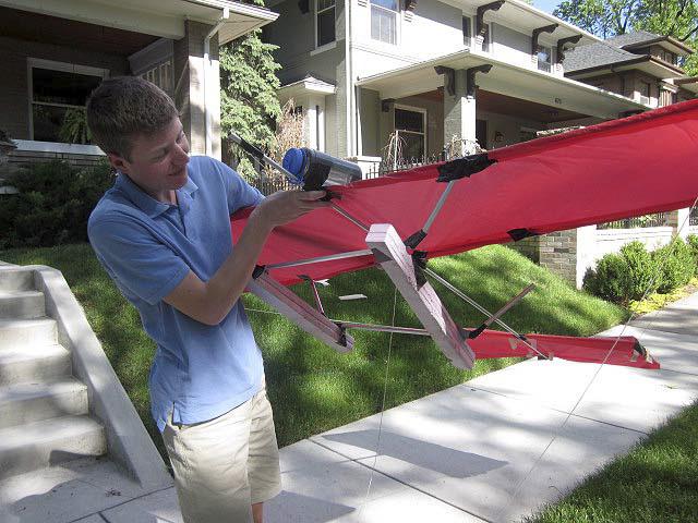 Photo: Nick Bain's model aircraft