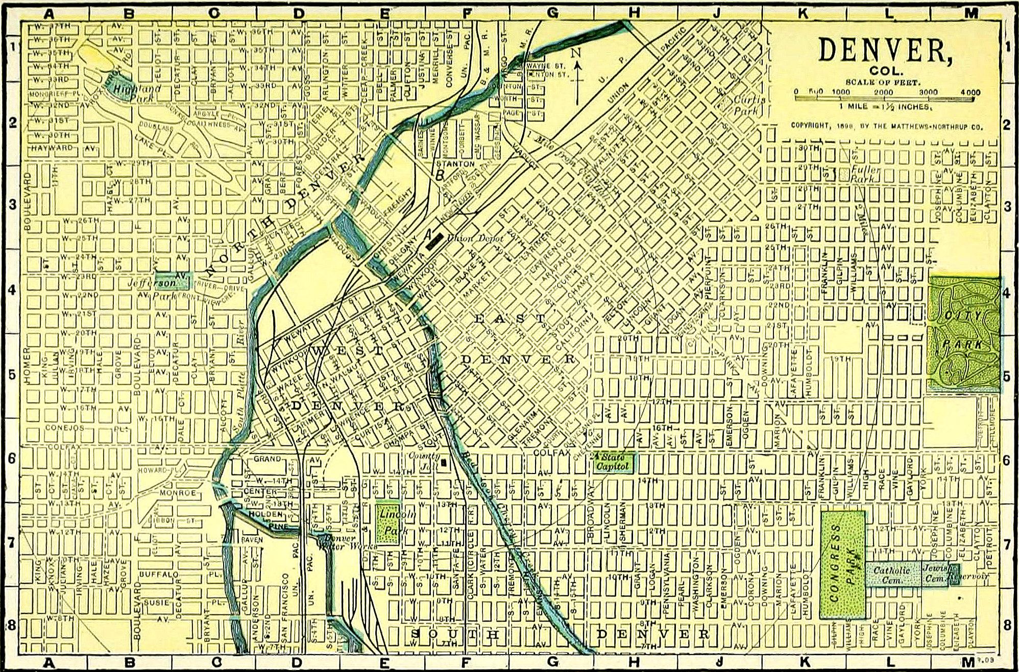 Photo: Denver Streets Map 1898