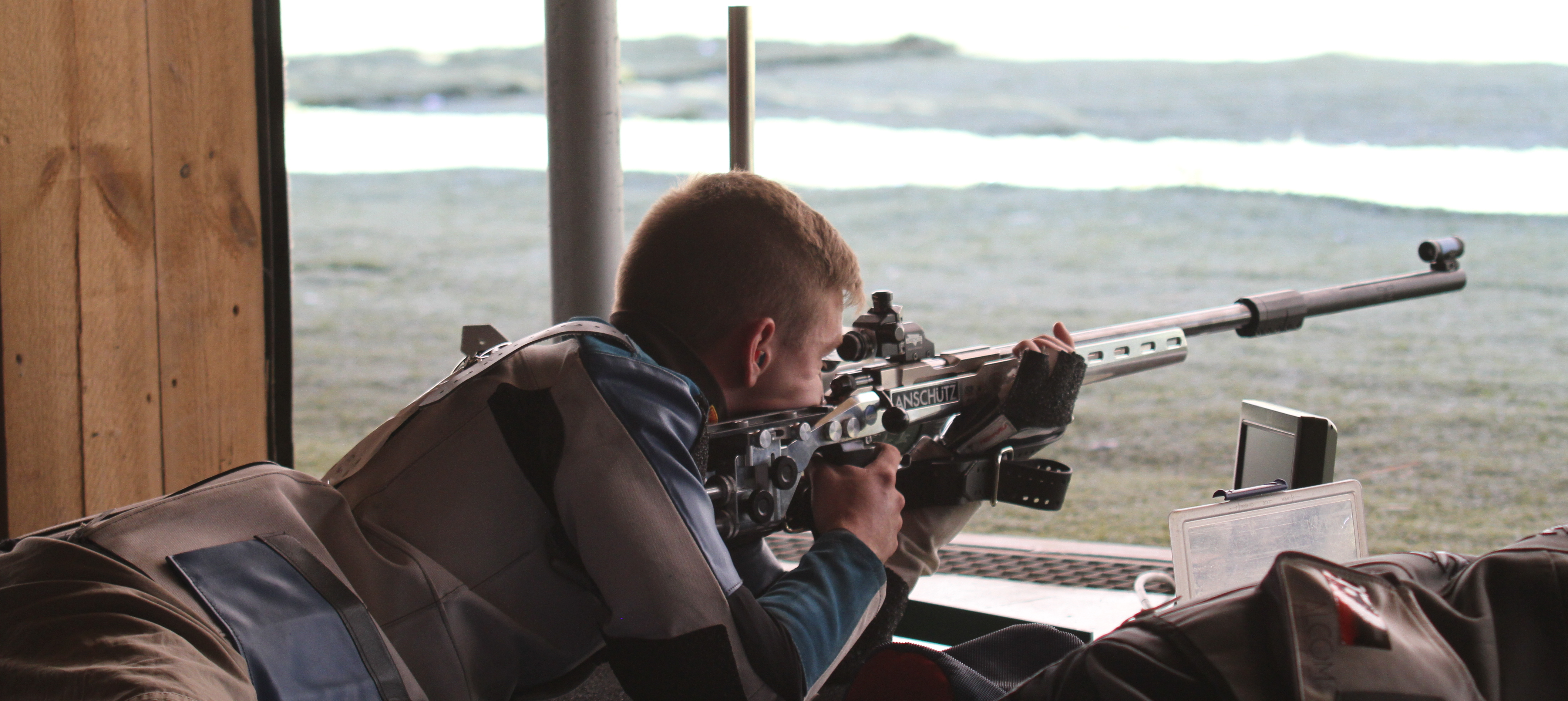 Photo: Olympic shooter David Higgins prone rifle 2