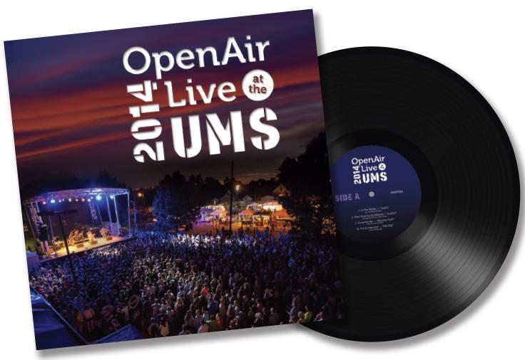 Photo: OpenAir Live at the UMS 2014 vinyl album graphic