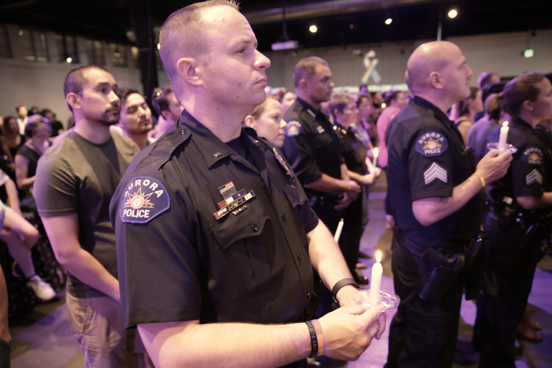 Photo: Orlando Vigil At Tracks, Aurora Police Department Officers