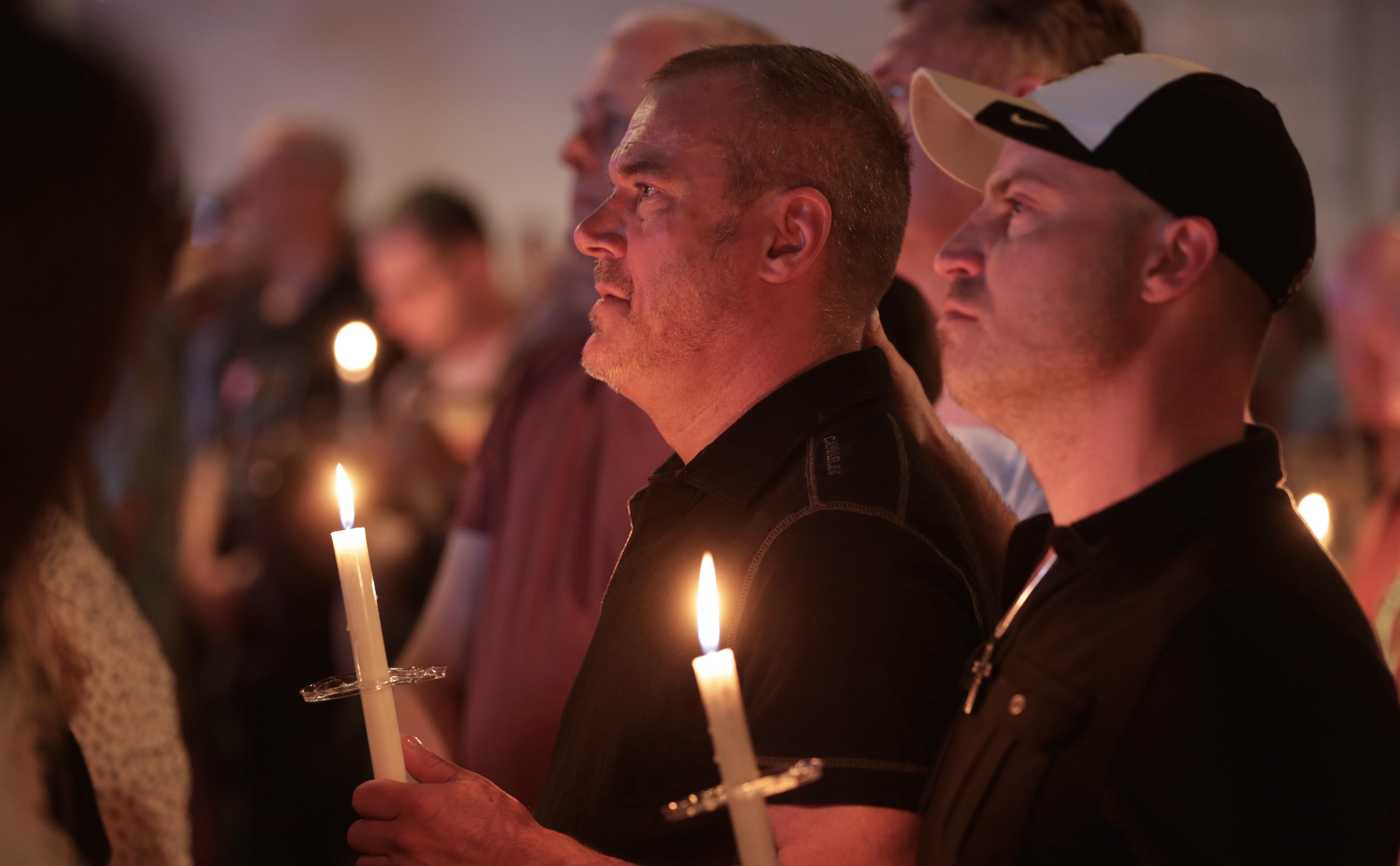 Photo: Orlando Vigil At Tracks, Holding Candles
