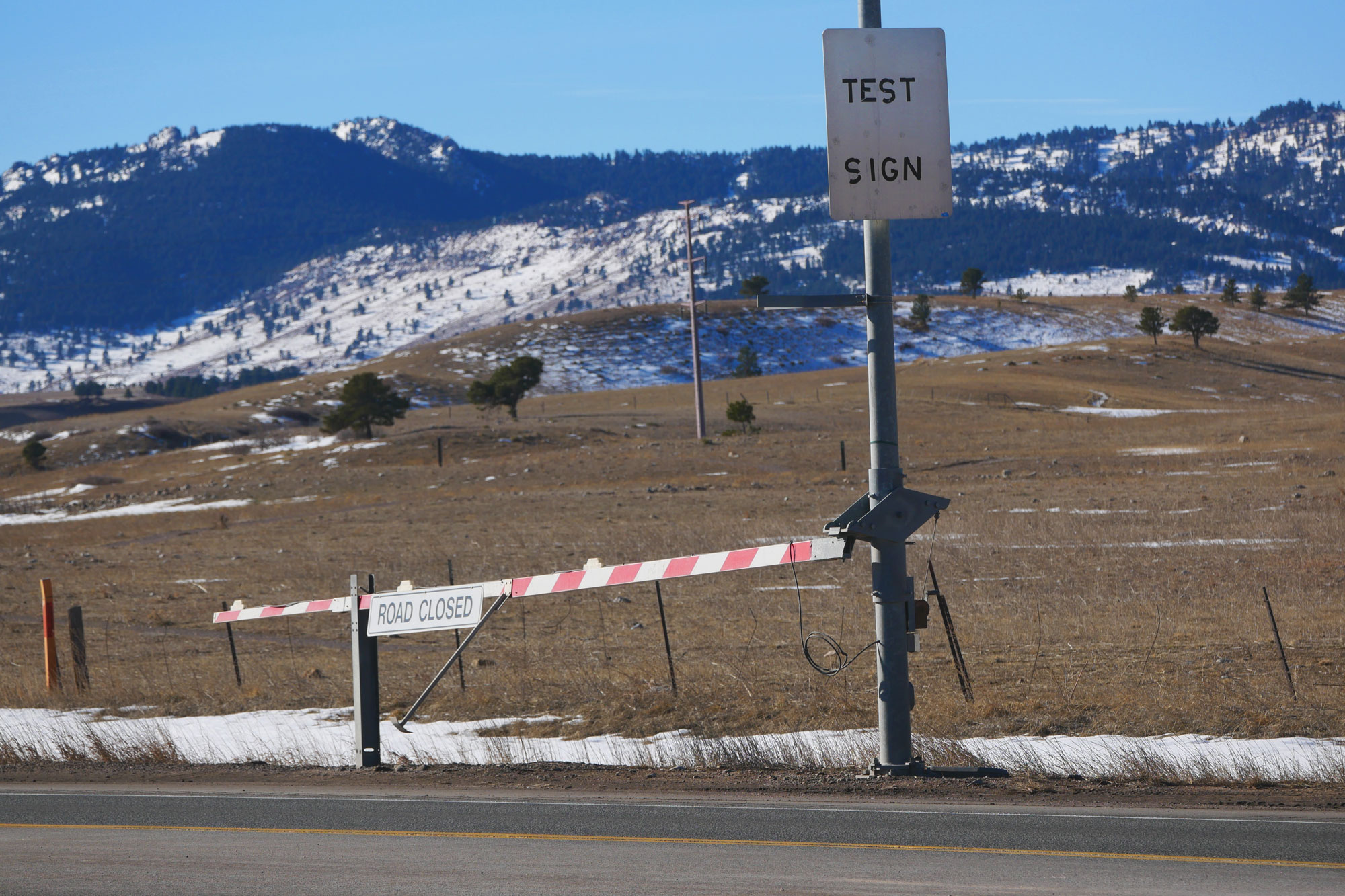 Photo: Colorado Wonders Road Signs 1 | Highway 93 Test Sign