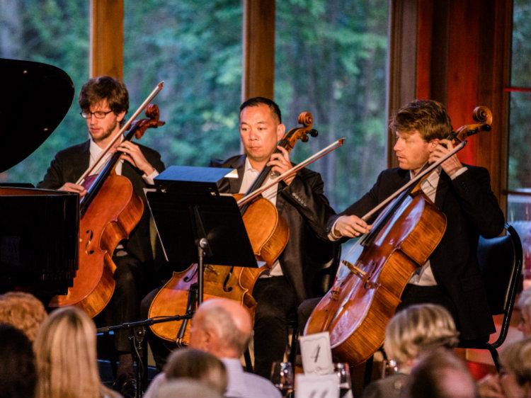 Photo: Bravo Vail David Ludwig Pangaea cello section