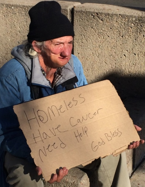 Photo: Fort Collins panhandler