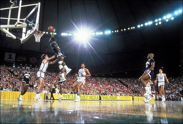 Photo: Patrick Ewing dunk 1984 Final Four