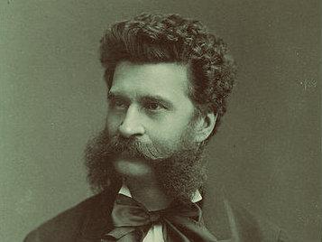 Photo: Johann Strauss II duotone
